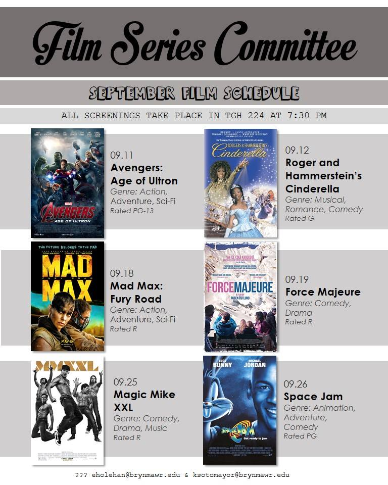September 2015 Screening Schedule