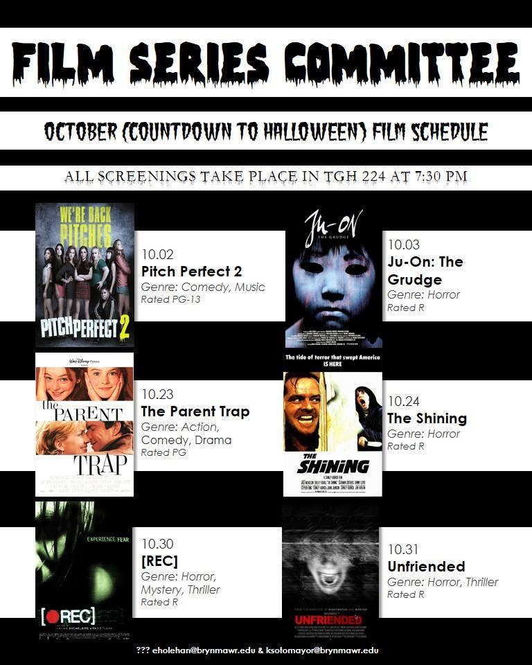 October 2015 Screening Schedule