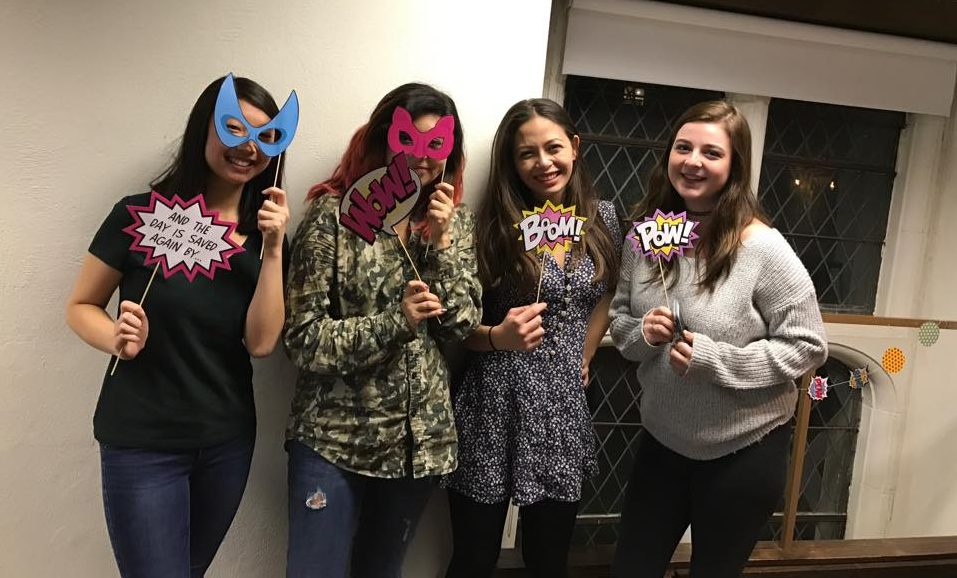 Film Series members Kellie '19, Co-heads Kristal '17 and Isabella '17, and Heather '19 at the Suicide Squad screening!